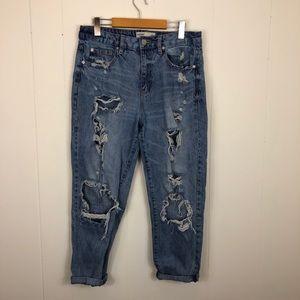 Garage Super Distressed Mom Jeans Sz 11